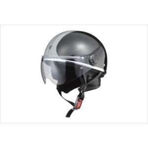 LEAD リード工業 O-ONE オー・ワン シールド付きハーフヘルメット ブラック/シルバー newfrontier