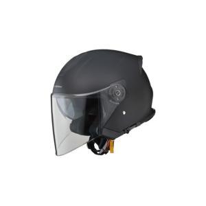 LEAD リード工業 インナーシールド内蔵ジェットヘルメット STRAX SJ-10 MB マットブラック|newfrontier