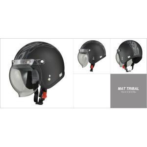 LEAD リード工業 MOUSSE ジェットヘルメット マット トライバル フリーサイズ(57〜60cm未満)|newfrontier