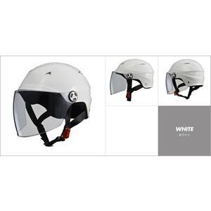 LEAD リード工業 開閉シールド付きハーフヘルメット RE-40 ホワイト|newfrontier
