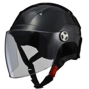 LEAD リード工業  SERIO RE-41 開閉シールド付きハーフヘルメット ブラック LLサイズ|newfrontier