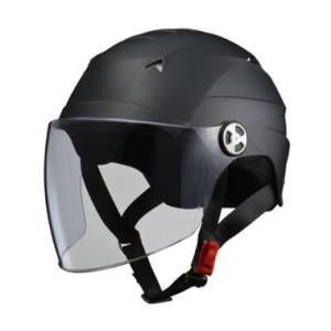 LEAD リード工業  SERIO RE-41 開閉シールド付きハーフヘルメット マットブラック LLサイズ|newfrontier