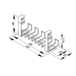 プラス Garage 配線整理 ワイヤーケーブルトレー Sサイズ 幅39.7cm YY-04DCT ...