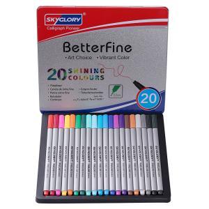 線画ペン 細書きペン カラーペン ライナー 20色セット 水性ペン プレゼント 塗り絵 手帳 ノード