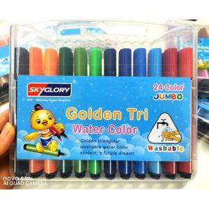 カラーペン マーカーペン サインペン 洗たくでキレイ 子供 大人も (24色セット)