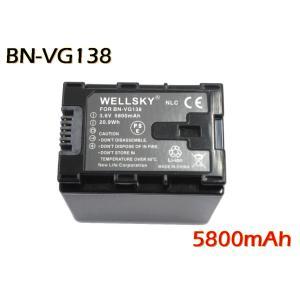 【あすつく対応】● Jvc Victor ビクター ● BN-VG138 互換バッテリー ●純正充電器で充電可能 残量表示可能 ●