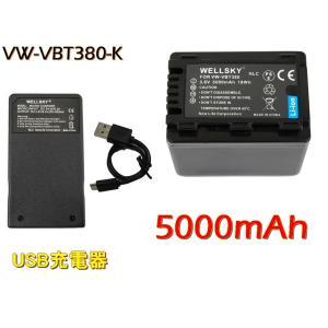 互換可能バッテリー : Panasonic : VW-VBT380-K VW-VBT380  1個 ...