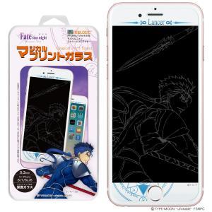 劇場版「Fate/stay night [Heaven's Feel]」 iPhone8 iPhone7 iPhone6s iPhone6 C-Glass 0.3mm マジカル プリントガラス  (ランサー)|newlogic-store
