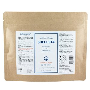 野菜・くだもの洗い Shellista ( シェリスタ ) パウダータイプ  【袋タイプ】 天然成分 100% ナチュラル 100g 【 ノロウイルス 対策 残留農薬 ワックス除去に 】|newlogic-store