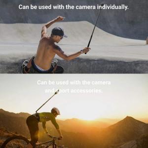目に見えない 自撮り棒 1/4インチネジ 長さ28cm から120cmまで 調節可能 ONE X ONE ONE R EVOカメラ用 newpark
