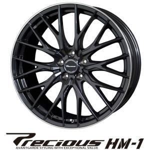 HOT STUFF ホットスタッフ Precious プレシャス HM-1 エイチエム1 ホイール 4本セット 18インチ ブラック系 7.5J PCD114.3 5穴 メッシュ ミニバン・SUV|news1994