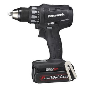 パナソニック 18V 3.0Ah 充電ドリルドライバー EZ74A2PN2G-B(黒)|newstagetools