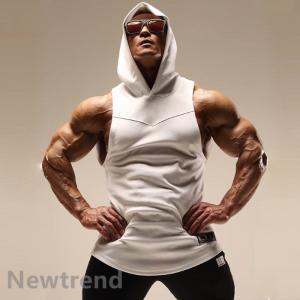 トレーニングウエア メンズ ジム チョッキ スポーツウェア 帽子付き 速乾 吸汗 フィットネス 筋ト...