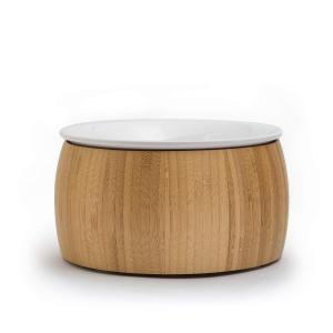 TIGERLI 6センチボウル 猫餌食器 陶磁器製 洗いやすい 滑り止め竹製トレ付き newwaveshop