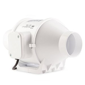 (ホン&ガーン)Hon&Guan ダクト用換気扇 産業用排風機 中間取付 ダクトファン 丸形タイプ 75mm HF-75S|newwaveshop