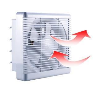 一般換気扇、羽根径15 cm(連動式、シャッター、引きひも式、格子フィルター)浴室、窓用、台所用空気の循環、二方向排気ファン 25 × 25cm newwaveshop