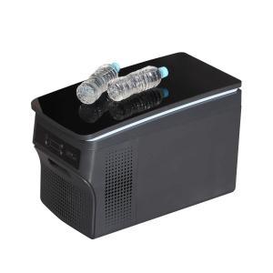 ブラック鏡面天板 車 車載用 冷蔵庫 冷凍庫 容量26リットル ポータブル 12V 24V 兼用 静音設計 -25℃〜20℃ 3.3mのロングケーブル|newwaveshop