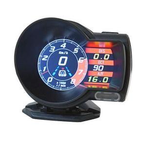 タコメーター OBD2 スピードメーター 後付け 多機能メーター バッテリー電圧 水温計 日本語説明書付き ポン付け 車 XAA379|newwaveshop