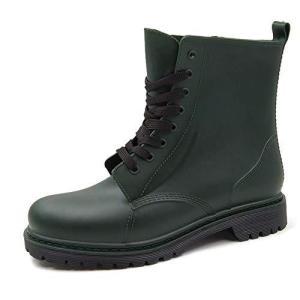 [アモジ] メンズ レインブーツ レディース レインシューズ ワークブーツ ショットブーツ ワークマン 長靴 雨靴 作業靴 防水 MT100 グリーン 27.0cm|newwaveshop