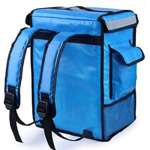 配達バッグ 42L 大容量 デリバリーバッグ リュック 宅配 バッグ ピザ 寿司 ポーチ 保温 保冷バッグ 配達 パッケージ 防水(青) 日本語取扱説明書付き|newwaveshop