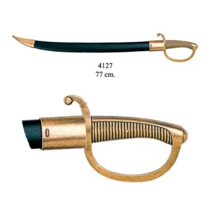 【美術刀&刀剣】 デニックス 4127 ブリケットカトラス フランス 19世紀|newworldnet