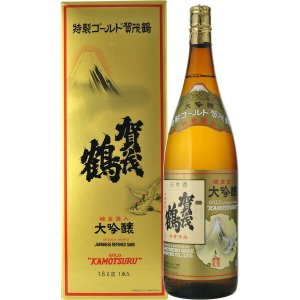 日本酒 賀茂鶴 大吟醸 特製ゴールド(金箔入り) 1800ml(2)