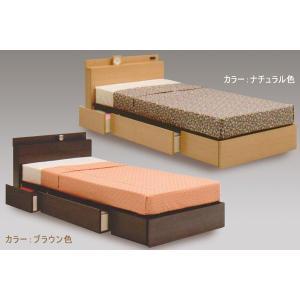 ベッド シングルサイズ Sサイズベッド 小宮付き−BOX引出し−コンセント付きベッドフレーム IPB KCP 813 ベッド フレーム|next-life-style