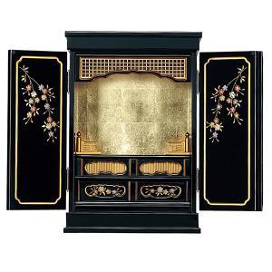 仏壇 金仏壇 塗りモダン (ソメイヨシノ1) 上置 黒色 16号|next-life-style