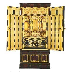 名古屋型台付 尾張3 6枚障子 東 箔仕上 金仏壇|next-life-style