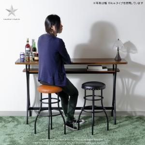 バーカウンターテーブル (150cmサイズ AT-154CT brno) 北欧 アイアン スチール おしゃれ 作業台 BRNO ボーノ ブルノ 古木風|next-life-style