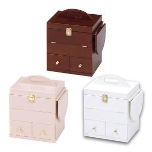 コスメボックス MUD-6930BR/MUD-6930PI/MUD-6930WH ホワイト/ブラウン/ピンク 化粧箱 3面鏡|next-life-style