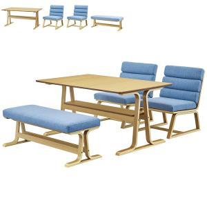 ダイニング4点セット(VET-333TNA)ダイニングテーブル 幅130×1(VET-332NA)ベンチ×1(VET-331NA)チェア×2|next-life-style