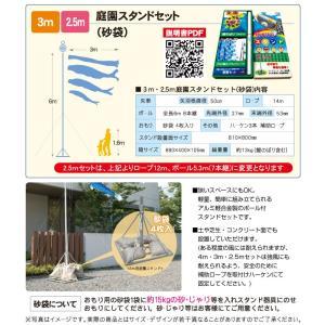 鯉のぼり 庭用 スタンドセット ゴールド鯉 3m 8点セット 徳永鯉のぼり|next-life-style|02