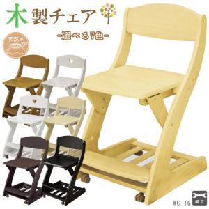 木製チェア 板座 学習机用 WC-16LB/WC-16MB/WC-16MP/WC-16WHG/WC-16WW 木製椅子/木製イス/学習椅子/学習チェア/学習イスの写真