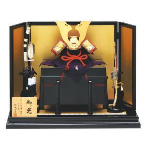 五月人形 真多呂 真多呂人形 加藤一冑作 兜飾り 平飾り (...