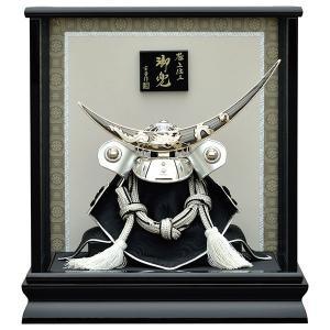 五月人形 兜ケース飾り 兜飾り 伊達政宗 (180 銀彫金伊...