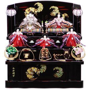 雛人形 三段飾り 五人飾り 14-19 三段飾り 豪華三段飾り 雪洞しだれ桜 ピンクボカシ 数量限定...
