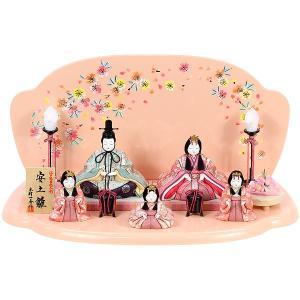 数量限定 雛人形 平飾り 五人飾り 木目込み 一秀 ひな人形...