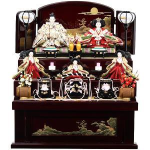 雛人形 収納飾り 三段飾り 五人飾り お雛様 RO120S61 桃の節句/展示現品 衣装着人形