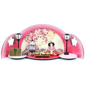雛人形 コンパクト 平飾り 創作飾り 親王飾り 423S71 45T-22 おひなさま/ひなまつり/ひな祭り/お雛様 数量限定 衣装着人形の画像