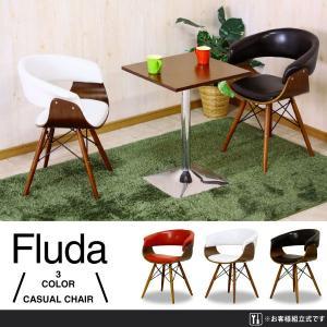 (フルーダ) チェア レッド/ホワイト/ブラック PU ウォールナット ビーチ材 デザイン家具 おしゃれ 椅子|next-life-style