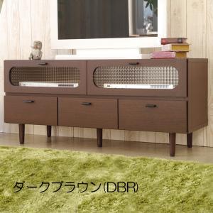 テレビボード AVボード(POOL(プール)) 120 ローボード レトロチックなデザイン|next-life-style