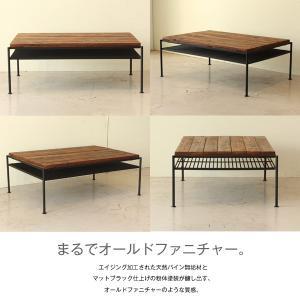 ケルト kelt リビング テーブル カフェテーブル パイン無垢材 古木風仕上げ 自然塗装|next-life-style|04