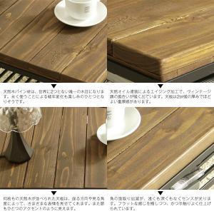 ケルト kelt リビング テーブル カフェテーブル パイン無垢材 古木風仕上げ 自然塗装|next-life-style|05