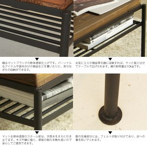 ケルト kelt リビング テーブル カフェテーブル パイン無垢材 古木風仕上げ 自然塗装|next-life-style|06