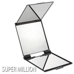 ルアン キュービックミラー 立体三面鏡 スーパーミリオンヘアー 手鏡 プロ用美容室専門店 クリスマス プレゼント 見えにくい頭頂部がみえます|nextbeauty
