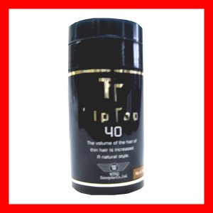 ティップトップ40 40g ブラック 振るだけ瞬間薄毛ケア 高品質な特殊繊維 プロ用美容室専門店|nextbeauty