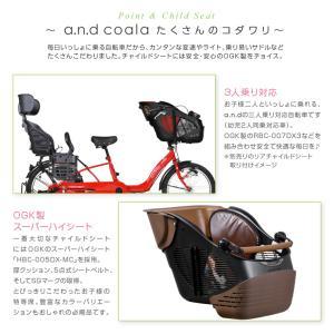 ヘルメットプレゼント 子供乗せ自転車 3人対応 20インチ オートライト  a.n.d coala コアラ a.n.design works  完全組立|nextbike|06