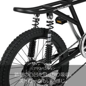 10%OFFクーポン!カギ&ライトプレゼント  a.n.design works  Baboon バブーン Caringbah 自転車 20インチ 6段変速 BMX 前後 フルサスペンション カンタン組立|nextbike|11