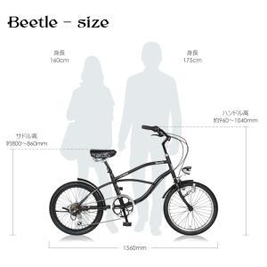 自転車 ビーチクルーザー 20インチ Beetle ビートル Caringbah a.n.design works 99%組立 nextbike 15